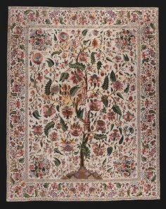 A Palampore from India - these inspired the chintz and the Jacobean Tree of life designs.