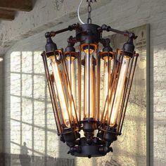 AC100-240V 52*57cm 8pcs E27 T30 Edison bulbs Pendant Chandelier Creative Industrie Cafe/Restaurant Edison Pendant Lamp 8 Lights