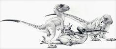 The Three Little Raptors - Jurassic Park by IHeartJurassicPark.deviantart.com on @DeviantArt