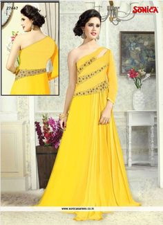 Link to buy any of these: http://www.sonicasarees.com/gowns?catalog=2600. Price Rs 3109/- Visit our website: www.sonicasarees.com Lowest price guaranteed. Shipped worldwide within 7 days.