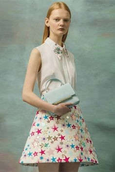detalle de camisa Delpozo Resort 2017 Fashion Show