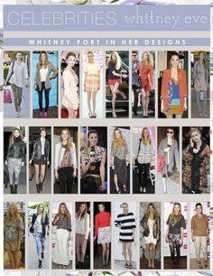 Spotted Whitney wearing her Spring 12 designs