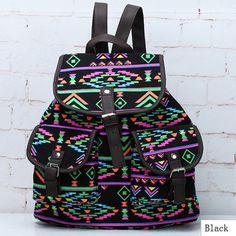 New Vintage Floral Ladies Canvas Bag School Bag Backpack | eBay