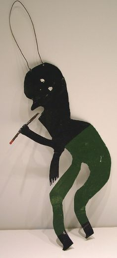 "Orange Hill Folk Art Gallery and Outsider Art Gallery - James A. ""Buddy"" Snipes - (Man with Cigar)"
