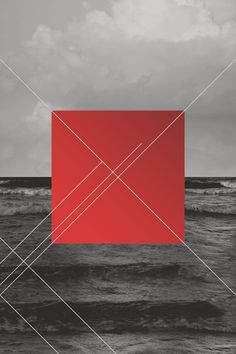 Tom Gallo    Tags: graphic design, geometric, abstract, black & white, red, ocean, water, lines, vectors