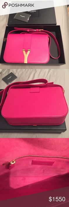 YSL Y Chyc Pink Bag Beautiful calf skin leather in perfect condition. No marks in suede interior. No marks on the leather. Great condition! Please let me know if you need anymore photos. Email me: scchan725@ gmail Yves Saint Laurent Bags Crossbody Bags