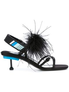 Slip on a slide and strap on a chunky heel with designer sandals for women at Farfetch. The perfect seasonal shoe find D&G, Valentino and Sies Marjan. Designer Sandals, Prada Shoes, Chunky Heels, Black Cotton, Leather, Shopping, Women, Thick Heels