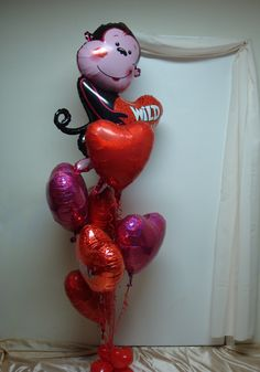 Valentine's Day Wild Monkey Love Bouquet! www.partyfiestadecor.com