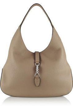 Jackie Soft Hobo textured-leather shoulder bag #shoulderbag #women #covetme #gucci