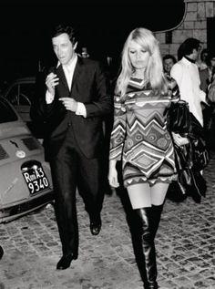 Brigitte Bardot in Pucci, 1967 Brigitte Bardot, Bridget Bardot, 20th Century Fashion, Celebs, Celebrities, Up Girl, Fashion History, Most Beautiful Women, Style Icons