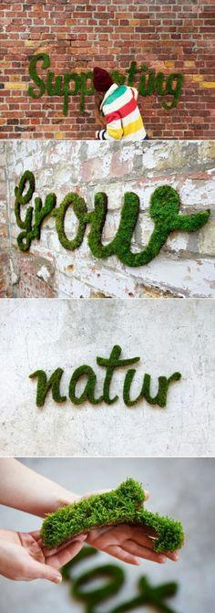 La hierba como inspiración para eventos;-)