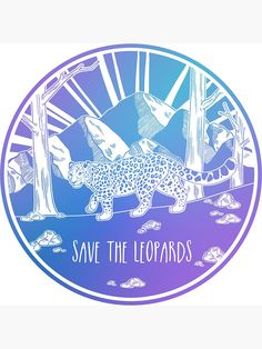 Save the Leopards! Sticker by Hannah Diaz - White Background - Plastic In The Sea, Global Warming Climate Change, Save The Sea Turtles, Save Our Earth, Practical Jokes, Cool Stickers, Cute Pins, Leopards, Environmental Art