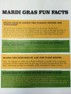 fun facts for Mardi Gras Mardi Gras Facts, Mardi Gras Food, Mardi Gras Centerpieces, Mardi Gras Decorations, Mardi Gras Outfits, Mardi Gras Costumes, Birthday Party For Teens, Teen Birthday, Birthday Ideas