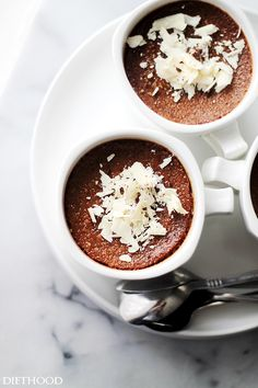 Caffe Mocha Creme Brulee   www.diethood.com   Delicious and decadent chocolate custard with notes of espresso and a crispy sugar crust.