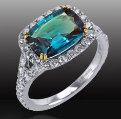 One or our favorites! #Alexandrite #Ring #Jewelry #Engagement