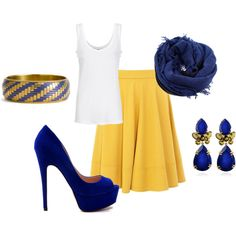 simple spring skirt, created by sarahleone615.polyvore.com