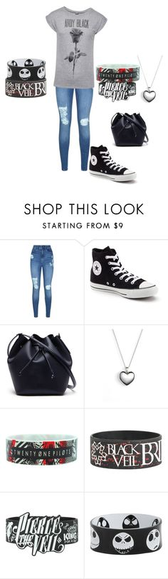 """""""Untitled #76"""" by wndt on Polyvore featuring Lipsy, Converse, Lacoste and Pandora"""