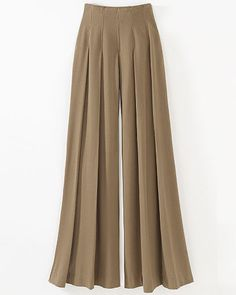 Wide & full pleated pants
