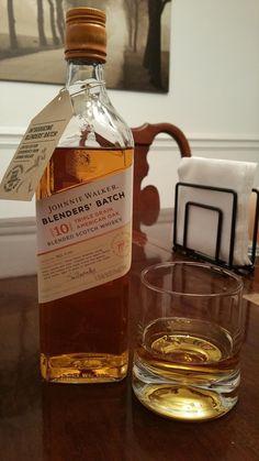 Review 04: Johnnie Walker Blenders' Batch Triple Grain American Oak (10 Year) #scotch #whisky #whiskey #malt #singlemalt #Scotland #cigars