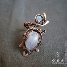 Купить Кольцо с лунным камнем - wire wrap, wire work, jewelry, art, handmade, ring