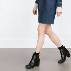 Image 2 of ANKLE BOOTS WITH BUCKLES from Zara