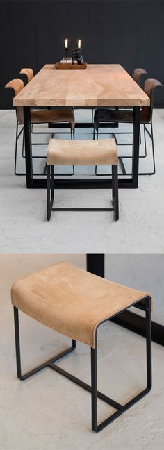 small leather camel design stool #smallleatherstool - IN STOCK