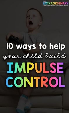 How to help your child build impulse control/ self-control This is an important skill that helps kids have success with their school work, friendships, goals, and behavior. Parenting Advice, Kids And Parenting, Parenting Quotes, Impulse Control, Act For Kids, Emotional Regulation, Kids Behavior, Adhd Kids, Self Control
