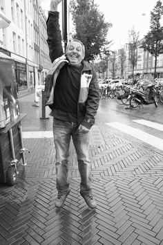 """""""Temporary jump   One"""": I am fascinated by the fact that everything is passing. That's why I'd like to picture people while jumping. It's just a very short moment I try to fasten before it's gone. Dappermarkt, Amsterdam"""