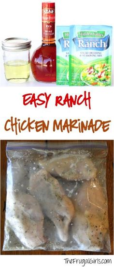Easy Ranch Chicken Marinade Recipe From Thefrugalgirls Com The Secret To Amazing