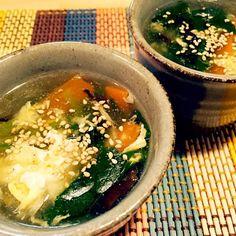 畑をやってる親戚から、大量のほうれん草を頂きました 1日目は中華スープで - 43件のもぐもぐ - ほうれん草たっぷりのとろ〜り中華スープ(o^^o) by rinruru810