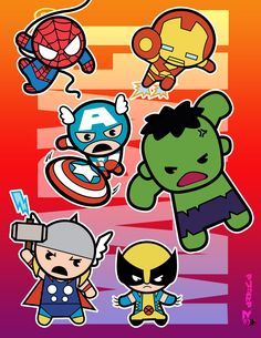 Marvel  (chibi) Super Heroes by aerlixir.deviantart.com on @deviantART