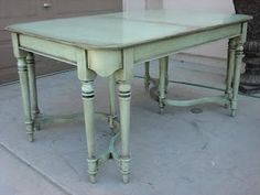 refinished furniture- i like this for maybe my kitchen table?