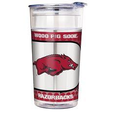 Great American Products NCAA 22 oz. Double Wall Acrylic Party Cup - Arkansas Razorbacks