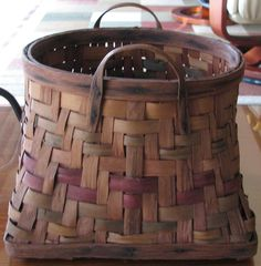 Antique Basket with Color. $65.00, via Etsy.
