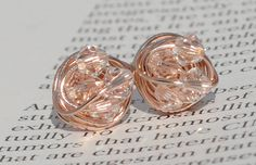 Petite Clear crystal  Rose Gold Series Clear Swarovski by vdazzled, $16.00