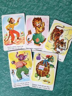 Vintage Snap card game, 1950's, vintage cards