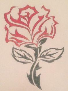 Celtic Rose by Amikuchan on DeviantArt Dark Art Drawings, Pencil Art Drawings, Art Drawings Sketches, Tattoo Drawings, Star Sleeve Tattoo, Old School Rose, Small Star Tattoos, Tribal Rose, Cool Stencils