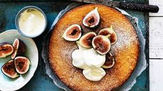 Fig And Lemon Yoghurt Cake Recipe Desserts with olives, slivered almonds, sugar, caster, figs, lemon
