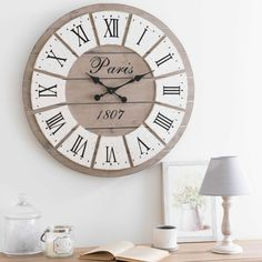 Reloj de madera Diám. 65cm HONORÉ