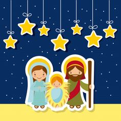 Holy Family Over Night Background Decorative Stock Vector (Royalty Free) 517193773 Christmas Post, Christmas Greetings, Christmas Crafts, Christmas Decorations, Christmas Ideas, Xmas Drawing, Female Cartoon Characters, Happy December, Night Background
