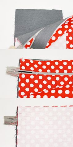 With a bow that functions as a handle for you to carry her around, this round makeup bag is not difficult to make at all.