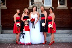 Red, Black and white wedding. LOVE LOVE LOVE LOVE LOVE!!!!!!!!!!!!!!!!!!!