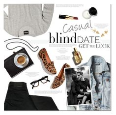 """""""What to wear: Blind Date. Casual Look"""" by anna-anica ❤ liked on Polyvore featuring Loeffler Randall, Madewell, D&G, Bobbi Brown Cosmetics, women's clothing, women, female, woman, misses and juniors"""
