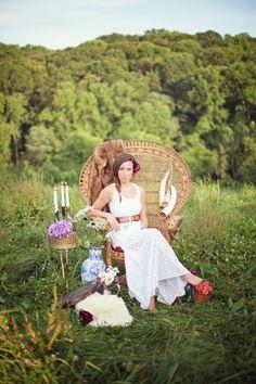 peacock chair for wedding Wedding Chicks Feature Boho Wedding Shoot - Jessica Adams Design, Anne Herbert Photography  Stacy Bowen Flowers