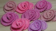 How to knit small TROLLEYS - crochet lesson - crochet flower roses - Flores Crochet Motifs, Crochet Diagram, Freeform Crochet, Thread Crochet, Irish Crochet, Crochet Crafts, Crochet Puff Flower, Crochet Flower Tutorial, Crochet Flower Patterns