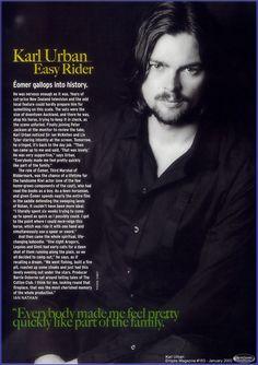 Love you Eomer!  ~ Karl Urban