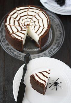 <br /> Tarta de queso Philadelphia y chocolate para Halloween