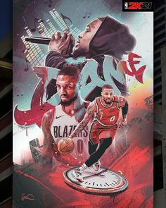 Nba Pictures, Basketball Videos, Damian Lillard, Nba Wallpapers, Portland Trailblazers, Trail Blazers, Nba Players, Baseball Cards, Cool Stuff