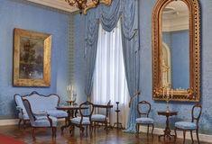 The Royal Palace of Gödöllő - Maria Valeria's room Royal Palace, Sissi, Curtains, Castles, Room, Home Decor, Bedroom, Blinds, Decoration Home
