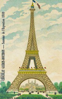 **FREE ViNTaGE DiGiTaL STaMPS**: Free Vintage Image - Le Eiffel Tower